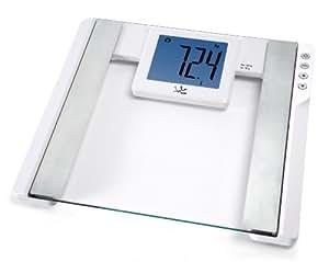 Jata Hogar 565BL - Báscula electrónica, analizador fitness, visor XXL, 150 kg, color blanco
