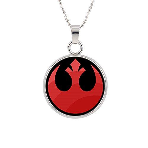 Star Wars Rebel Red Pendant Necklace Movies Comics Cartoons Books Premium Quality Cosplay Sci-Fi Jewelry (Red Arrow Superhero Costume)