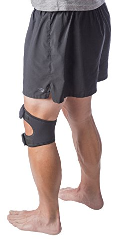 "Cho-Pat Dual Action Knee Strap – Provides Full Mobility & Pain Relief For Weakened Knees – Black (Medium, 14""-16"") by Cho-Pat (Image #3)"