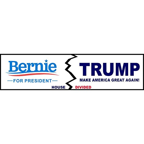 House Divided Sanders/Trump Logo Funny Decal Sticker | Political Bumper ()