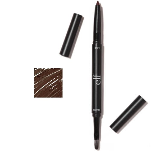 e.l.f. Lip Liner and Blending Brush 82302 Deep Brown 0.005 oz.