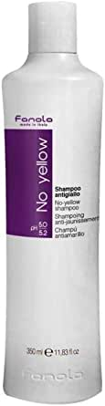 Fanola No Yellow Shampoo Ideal For Grey Superlightened Or Decoloured Hair, 350ml