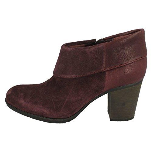 Clarks Détente Femme Boots/Bottes Enfield Canal En Daim Violet Taille 39