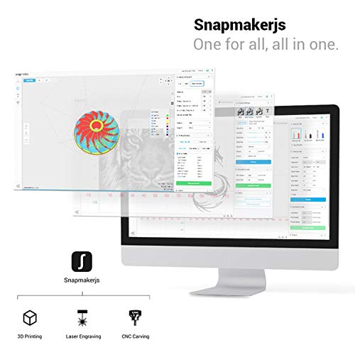 Snapmaker 3-in-1 3D Printer (3D Printing/CNC Carving/Laser Engraving),All  Metal,Entry-Level Digital Tool,Easy to Use Software,Free PLA