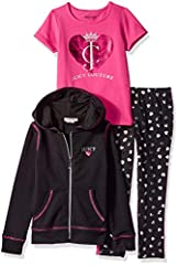 Our on trend Juicy Couture three pieces tracksuits are bringing west coast style and attitude to girls all over the world