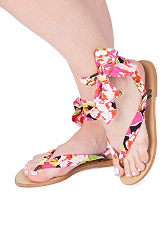 Sandals women summer shoes. Ribbon shoes wedding shoes. Spring beach sandals for girls Multicolored xosWndFE