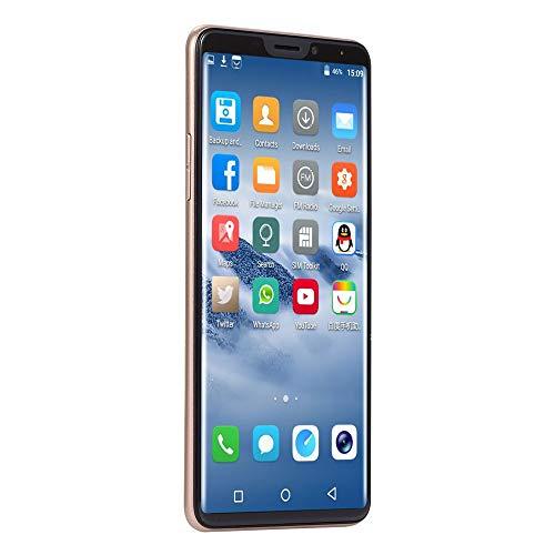 Fashion Unlock Phone,6.1 inch Dual HD Camera Smartphone Android 7.0 IPS Full Screen 2GB+16GB GPS 3G WiFi Phone (X21, Gold)