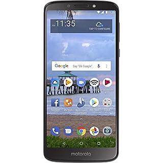 Net10 Motorola Moto e5 4G LTE Prepaid Smartphone (NTMTXT1920DCWHP), Black