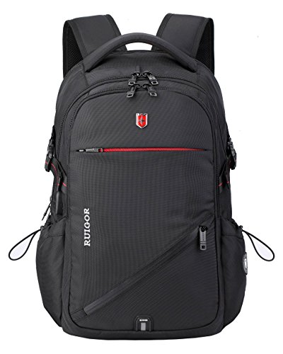 Swiss Ruigor 6425 Water Resistant Polyester Laptop Backpack With Side Pocket Fit For 15.6