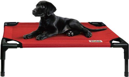Kakadu Pet Elevated Pet Cot, Fire (Red) – Medium, 30″ x 24″ x 7″, My Pet Supplies