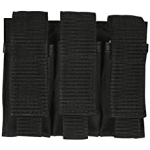 Fox Outdoor Products Triple Pistol Mag Pouch Black