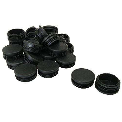 uxcell 50mm 2'' OD Plastic Tube Inserts Pipe End Blank Caps 28pcs, 1.85''-1.93'' Inner Dia, Protector for Steel Legs by uxcell