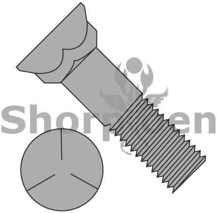 Box Quantity 100 by Shorpioen BC-5032BP5P Grade 5 Plow Bolt with Number 3 Head 1//2-13 x 2