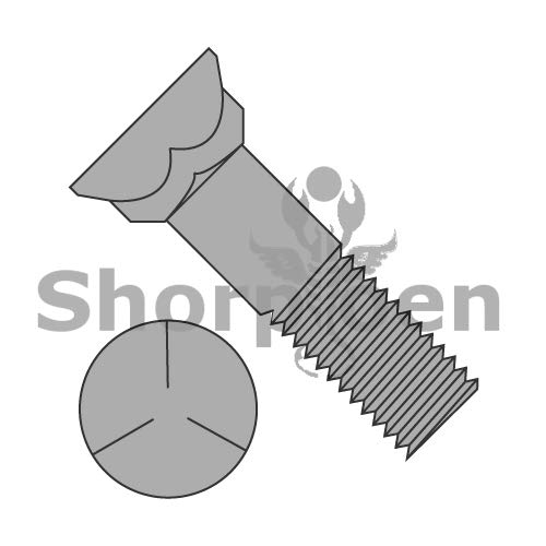 SHORPIOEN Grade 5 Plow Bolt with Number 3 Head Plain 1/2-13 x 1 3/4 BC-5028BP5P (Box of 150) by Shorpioen
