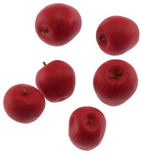 Dollhouse Miniature Red Apples Pkg of 6