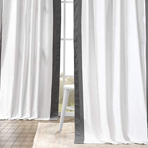 HPD Half Price Drapes PRCT-VC1714-108 Vertical Colorblock Panama Curtain 1 Panel