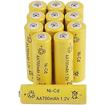 Amazon.com: 12-Pack AA Rechargeable Batteries 1.2V 700mAh