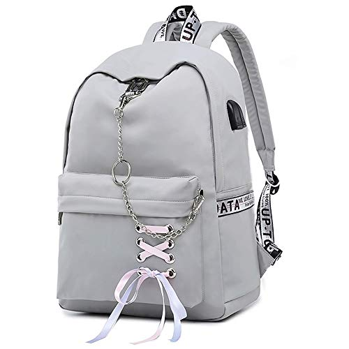 SAMAZ Teen Girl School Backpack with USB