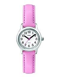Timex T79081 My First Easy Reader - Reloj de pulsera para niña (piel sintética), color rosa