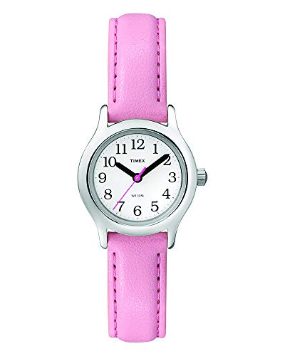 Pink Butterfly Hard Graphic - Timex Girls T79081 My First Easy Reader Watch with Pink Faux Leather Strap