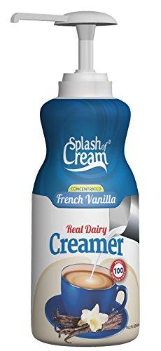 Splash of Cream French Vanilla Real Dairy Creamer | 15.2oz Pump Bottle - 100 Servings per Bottle