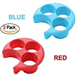Meal measurement part control Tool / Weight management plate Diet weight loss aid Tool / Food management Tool 2pcs (red, blue)