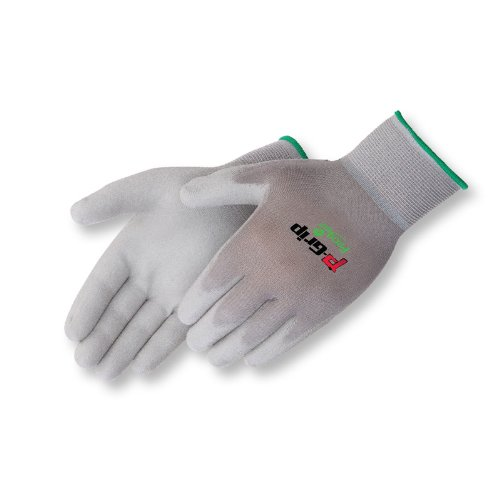 Liberty P-Grip Ultra-Thin Polyurethane Palm Coated Glove with 13-Gauge Nylon/Polyester Shell, Small, Gray (Pack of 12)