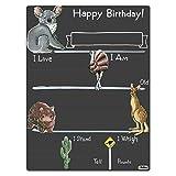 Cohas Birthday Milestone Board with Australian