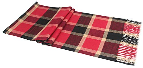 Sciarpe Winter Lattice Men Cashmere Red Autumn A17 180cm Warm Scarf Amdxd For ZaI6w5qFIx