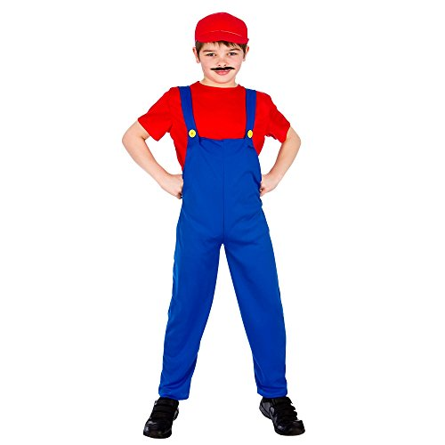 Funny Plumber- Red (8-10) Fancy Dress Kids Costume ()
