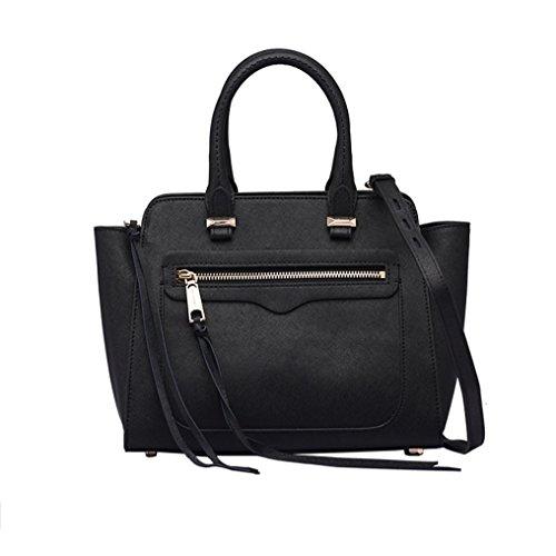 Schulter Diagonal tragbare kleine quadratische Tasche 2018 neue Leder Handtasche Black