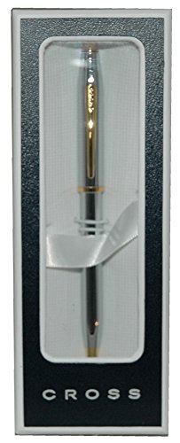 Cross Century II, Medalist, Ballpoint Pen,  with Polished Chrome and 23 Karat Gold Plated Appointments (3302WG)