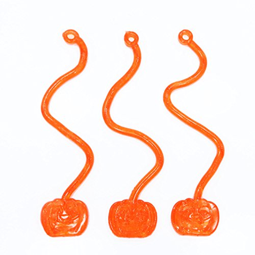 Fun Express Vinyl Glitter Sticky Jack-O-Lantern Halloween Pumpkins - 60 Pieces -