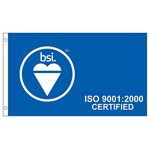 Bsis Iso 9001 2000 Flag  3 Ft  X 5 Ft