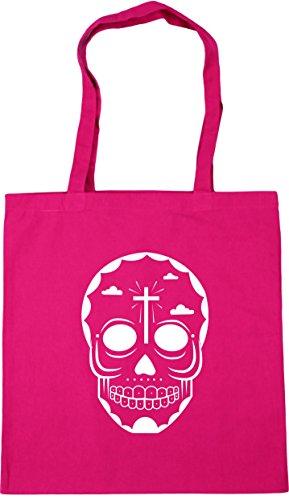 10 Bag skull 6 Gym Beach Fuchsia 42cm Shopping litres x38cm HippoWarehouse Tote 7zOqBYYw