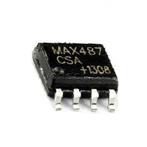 10Pcs Txrx RS485//RS422 Lowpwr MAX487 MAX487CSA 8Soic New Ic in