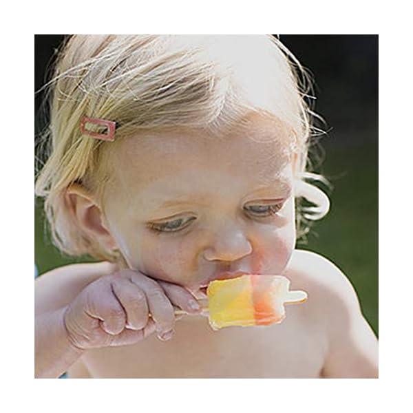 Stampi Ice Lolly Stampi per ghiacciolo e Gelato Commestibile Freddo Regalo impilabile per pappe per congelatore Pink 3 spesavip