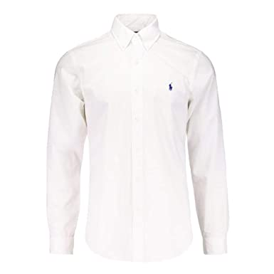 1deb05d7 Ralph Lauren Polo Men's Custom Fit Poplin Shirt White Navy Black S - XXL