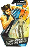 X-Men Origins Wolverine 4 Inch Tall Action Figure - LOGAN with 2 Interchangeable Hands and Lumberjack Axe