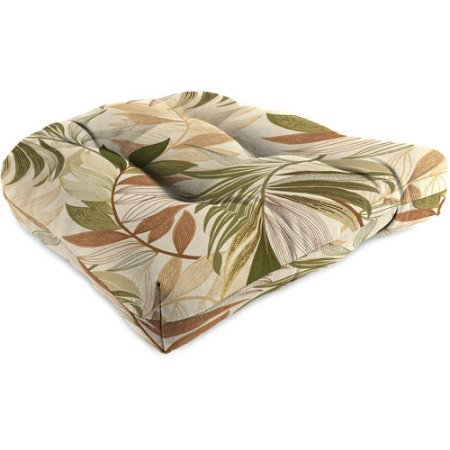 Jordan Manufacturing Outdoor Wicker Chair Cushion, Oasis Nutmeg ()