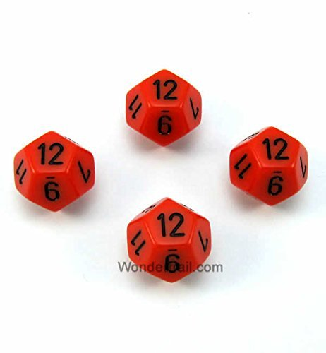 【在庫僅少】 wcxpq1203e4オレンジ不透明Dice withブラック番号d12 Chessex Aprox 16 mm mm ( 5/ ( 8in )パックof 4 Dice Chessex B00VWWTWRM, ステップスポーツ:32dcc33c --- egreensolutions.ca