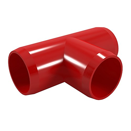 Red Pipe Pvc (FORMUFIT F034TEE-RD-8 Tee PVC Fitting, Furniture Grade, 3/4