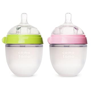 Comotomo Natural Feel Bundle - 2 Items: 5 Ounce Baby Bottles Green & Pink (B004C053CY) | Amazon price tracker / tracking, Amazon price history charts, Amazon price watches, Amazon price drop alerts