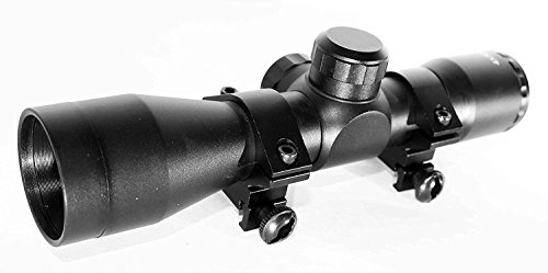 Trinity 4X32 Scope for Savage 93R17 FV-SR Picatinny Weaver Mount Adapter Aluminum Black mildot Reticle Hunting Optics Tactical Accessory Target Range Gear.