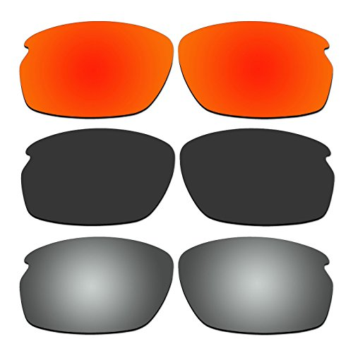 ACOMPATIBLE 3 Pair Replacement Polarized Lenses for Oakley Carbon Shift Sunglasses OO9302 Pack P1