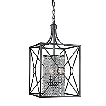 Gisela Crystal Beaded 3-light Iron Chandelier