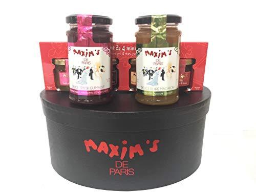 (Maxim's de Paris Gourmet French Jams (6 products) Gift basket Hat box)
