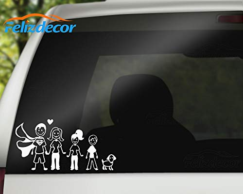 30cm Wide Happy Family Car Decal Rear Windshield DIY Decor Stickers Happiness Sign Car Decor (L028, 12 inch Wide)