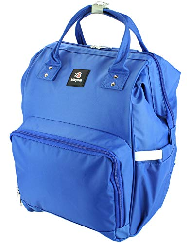 Baby Diaper Bag Backpack - Large Durable and Multi-Functional by BabyBugCompany (Blue)