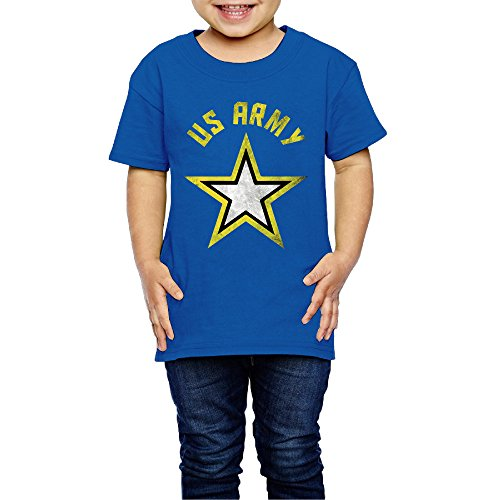 2-6 Toddler Little Girl's Distressed Us Army Strong Star Tees RoyalBlue (Tees Biodegradable 5)